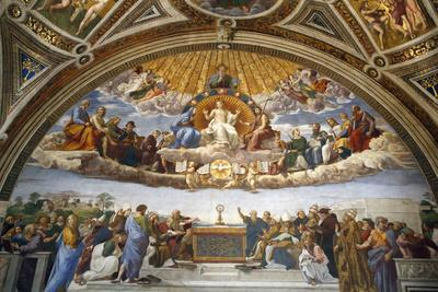 Raphael's Rooms, Disputation of the Holy Sacrament, Vatican Museum, Rome, Lazio