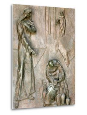 Sculpture on Door Depicting the Miracle of the Wedding at Cana, Annunciation Basilica by Godong
