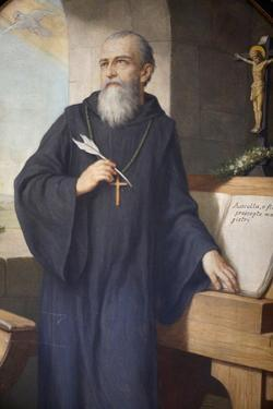 St. Benedict of Nursia, painted by Hermann Nigg in 1926, Heiligenkreuz Abbey, Austria by Godong