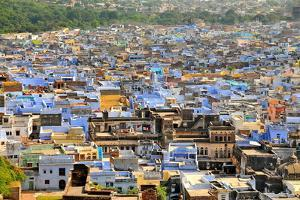 The Blue Buildings of Bundi, Rajasthan, India, Asia by Godong