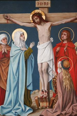The Crucifixion of Jesus, Holy Blood Basilica, Bruges, West Flanders, Belgium, Europe