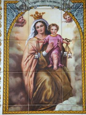 Virgen Del Carmen Tilework, Malaga, Andalucia, Spain, Europe by Godong