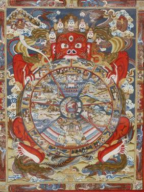 Wheel of Life, Kopan Monastery, Bhaktapur, Nepal, Asia by Godong