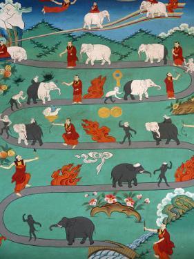 White Elephant Tale at Kopan Monastery, Kathmandu, Nepal, Asia by Godong