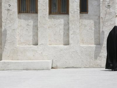 Woman Wearing Abaya, Doha, Qatar, Middle East by Godong
