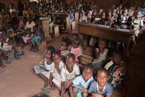 Wore African school classroom, Hevie, Benin by Godong