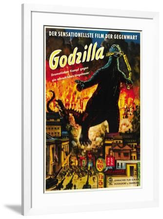 Godzilla, King of the Monsters - German Style--Framed Poster