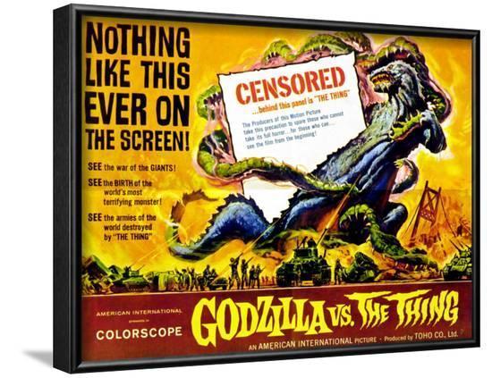 Godzilla vs The Thing, 1964--Framed Art Print