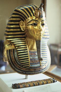 Gold and Lapis Lazuli Funerary Mask of Tutankhamun, King of Egypt, C1323 BC