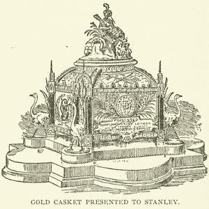 Gold Casket Presented to Stanley