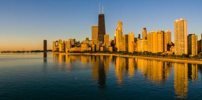 Gold Coast buildings at waterfront, Chicago, Cook County, Illinois, USA