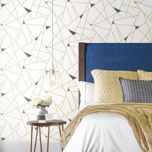 Gold Fracture Peel & Stick Wallpaper