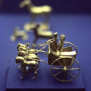 Gold Model Chariot from the Oxus Treasure, Achaemenid Persian, 5th-4th Century BC