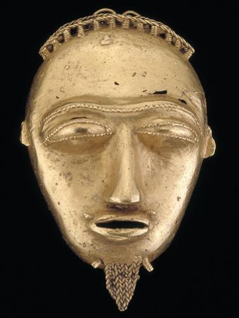 Gold Pendant Head, Popular Hair Adornments Among the Baule People; National Museum of African Art