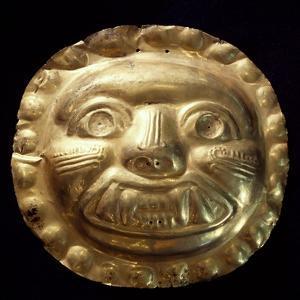Gold Zoomorphic Breastplate Originating from La Tolita