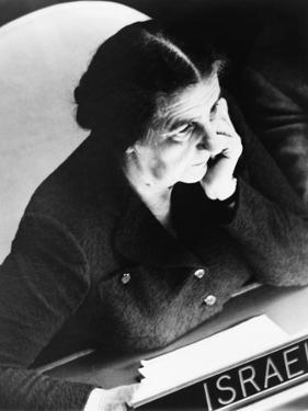Golda Meir, Israel's Foreign Minister