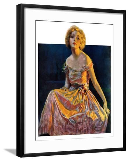 """""""Golden Ball Gown,""""October 23, 1926-Bradshaw Crandall-Framed Giclee Print"""