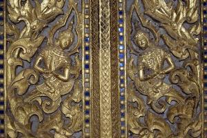 Golden Bas-Relief Depicting Divine Beings, Haw Phra Kaew, Vientiane, Laos, 16th Century