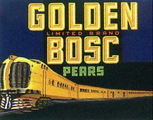 Golden Bosc - Fruit Label
