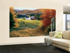 Golden Countryside Huge Mural Art Print Poster
