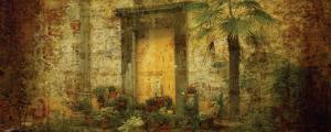 Golden Door with Palm