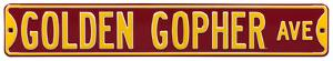 Golden Gopher Ave Steel Sign