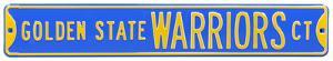 Golden State Warriors Ct Steel Sign