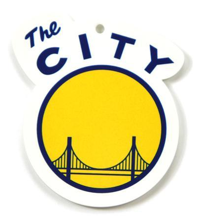 Golden State Warriors The City Logo Steel Magnet