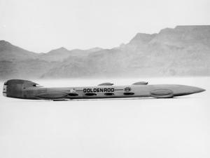 Goldenrod' Land Speed Record Attempt Car, Bonneville Salt Flats, Utah, USA, 1965