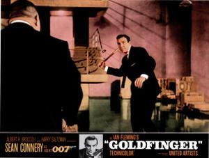 Goldfinger, from Left, Harold Sakata, Sean Connery, 1964