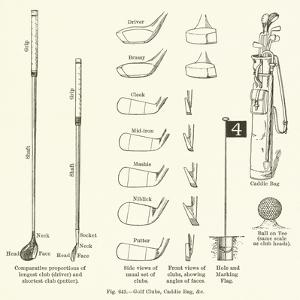 Golf Clubs, Caddie Bag, Etc