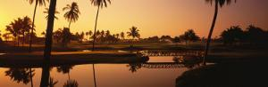 Golf Course at Sunset, Isla Navidad, Mexico