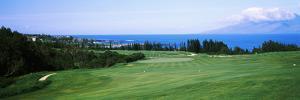 Golf Course at the Oceanside, Kapalua Golf Course, Maui, Hawaii, USA