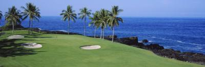Golf Course at the Oceanside, Kona Country Club Ocean Course, Kailua Kona, Hawaii, USA