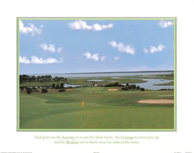 Golf Course Serenity Courage and Wisdom Art Print Poster