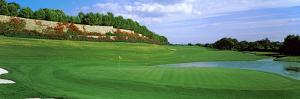 Golf Flag in a Golf Course, Valderrama Golf Club, San Roque, Spain