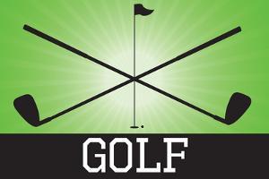 Golf Green Sports Plastic Sign