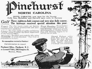 Golf: Pinehurst, 1916
