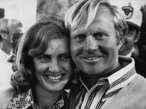 Golf Pro Jack Nicklaus, with Wife Barbara, at the Augusta National Golf Club, Georgia, April 1972