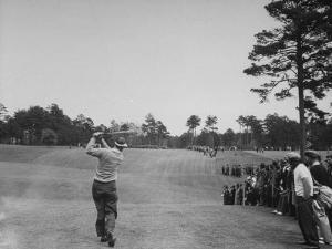 Golfer Byron Nelson Hitting the Ball During a Tournament