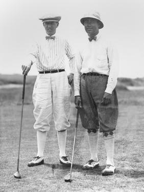 Golfers Mcdonald Smith and Walter Hagan, at Inwood, Long Island, on July 11, 1923