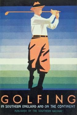 Golfing - in Southern England and the Continent, Poster Advertisement