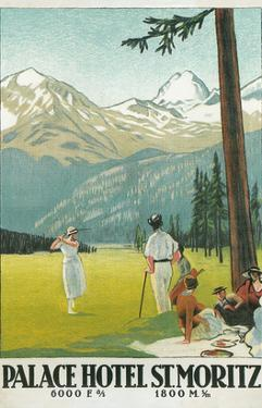 Golfing in the Swiss Alps