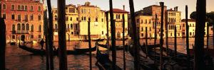 Gondolas in a Canal, Venice, Italy