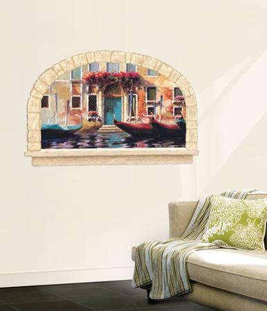 Gondolas Of Venice Accent Wall Decal