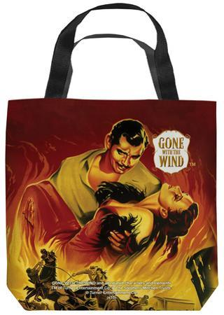 Gone With The Wind - Fire Poster Tote Bag