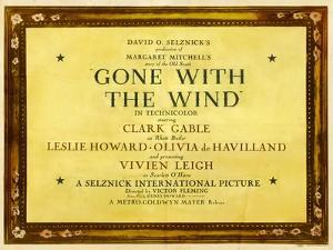GONE WITH THE WIND, poster art, 1939