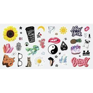 GOOD VIBES CRYSTAL PEEL AND STICK WALL DECALS