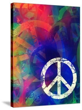Computer Designed Highly Detailed Grunge Abstract Textured Collage - Peace Background by Gordan