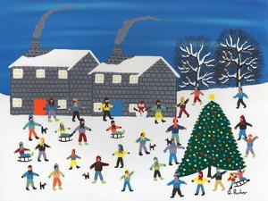 Christmas Tree by the Cottages by Gordon Barker